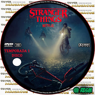 GALLETA  STRANGER THINGS - COSAS EXTRAÑAS - TEMPORADA 1 [COVER DVD]