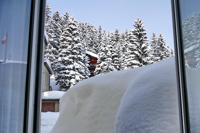 Hotel, Hohenfels, Schnee, Fenster, Sicht, Aussicht, Winter, Winterwonderland