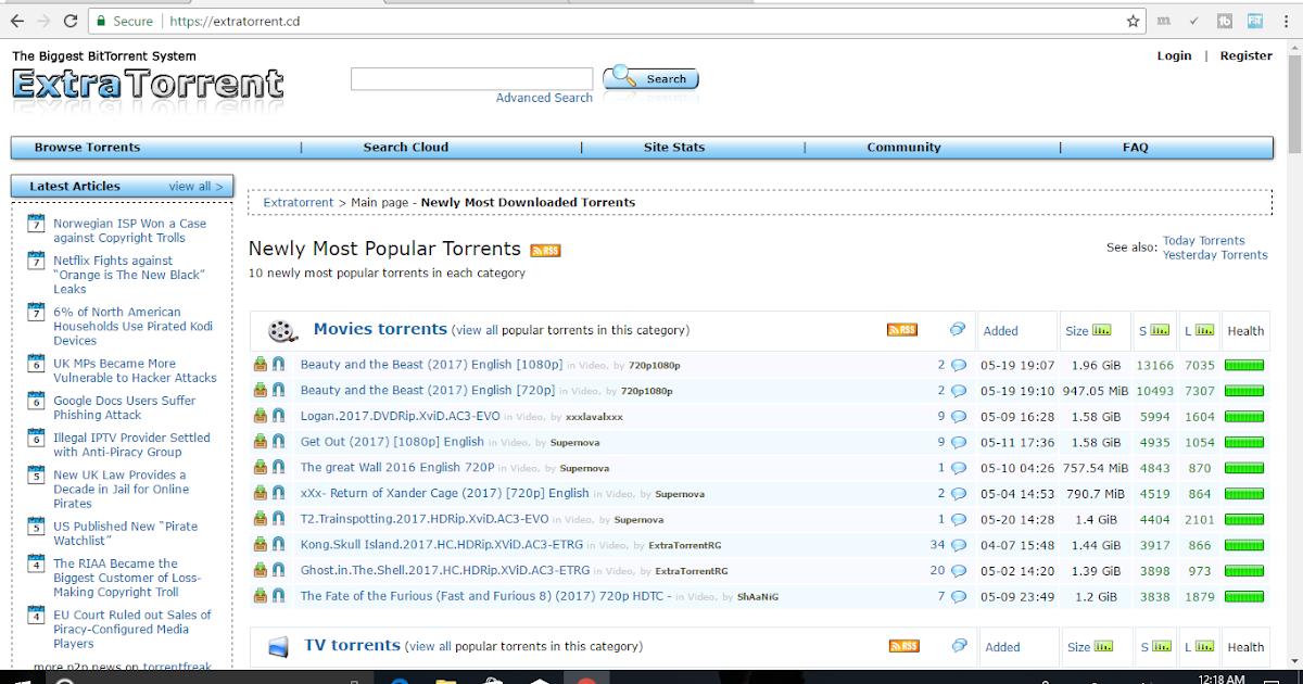 extratorrents list of popular movies