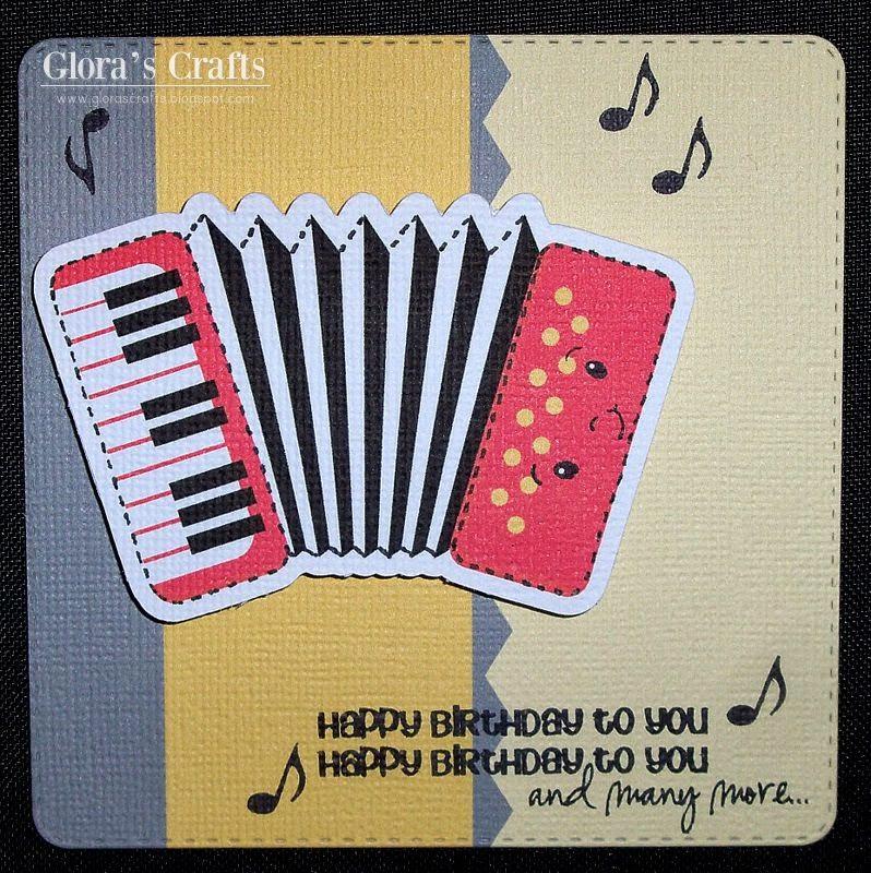 Glora's Crafts: Accordion Birthday Card
