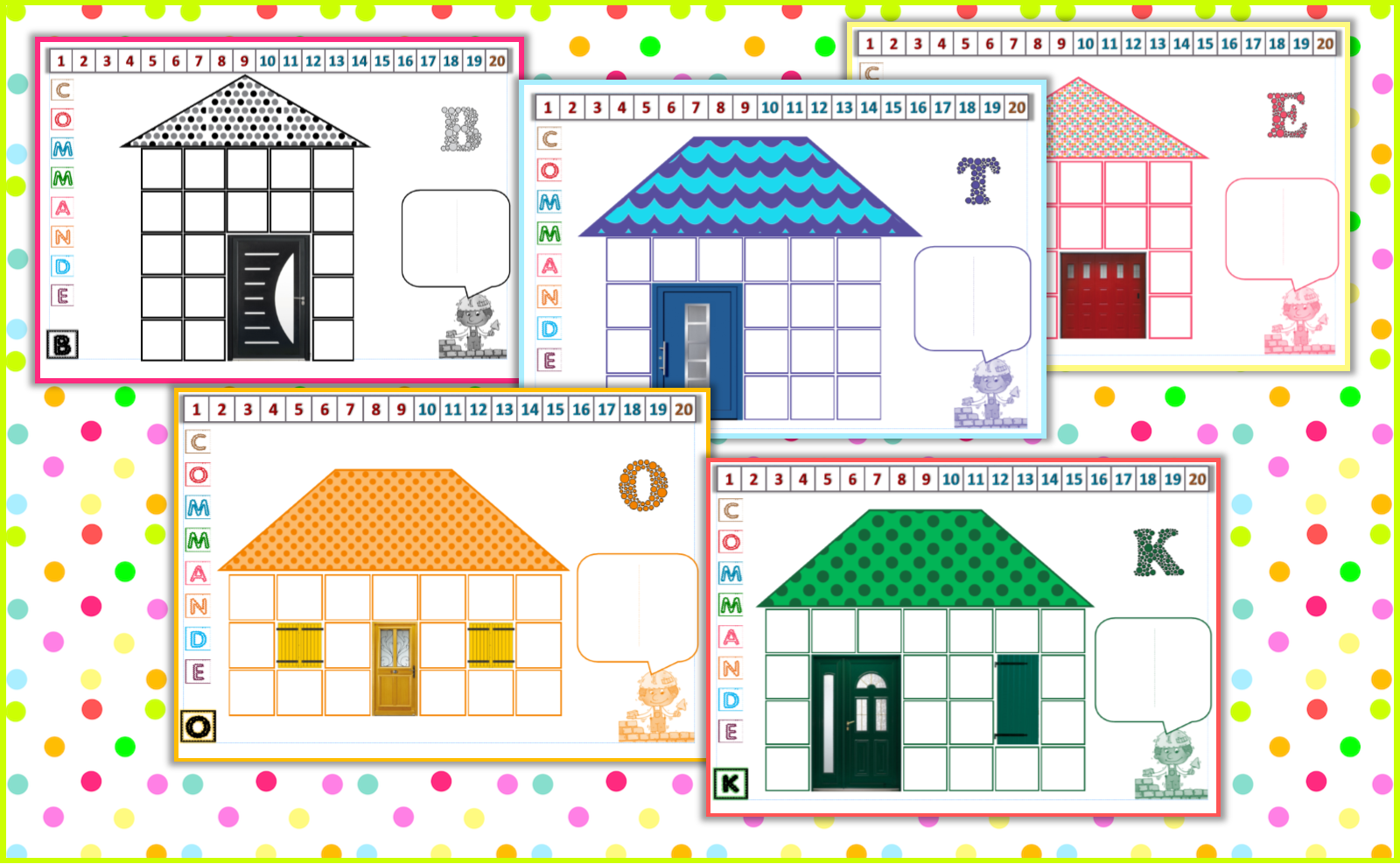 ipot me t me cp atelier comptage les maisons de 10 19. Black Bedroom Furniture Sets. Home Design Ideas