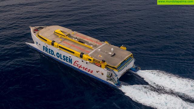Más de 100.000 personas han viajado entre islas con Fred. Olsen Express desde comienzos de junio