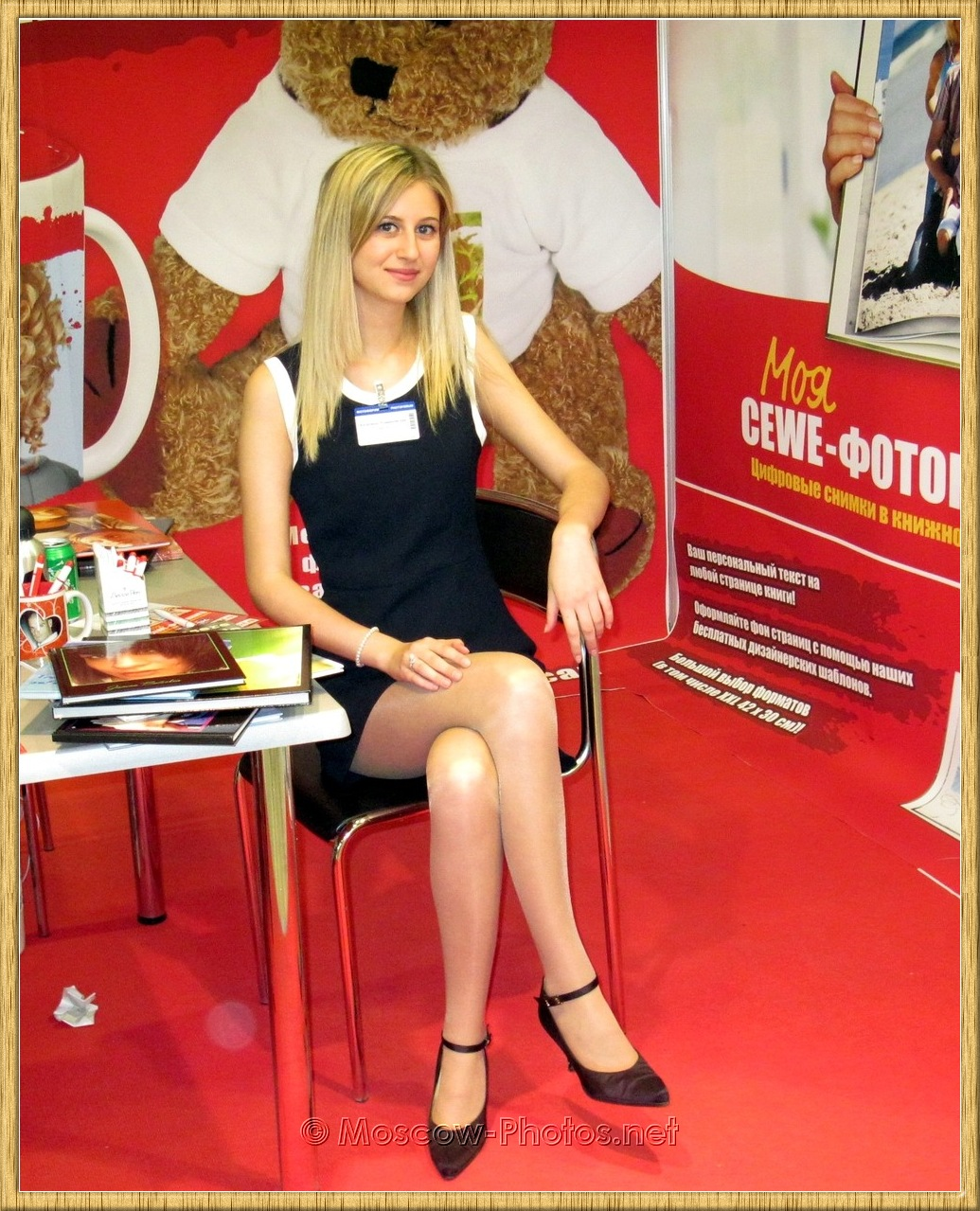 Blonde Promo Model at Moscow Photoforum