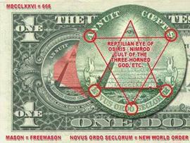 Resultado de imagem para dolar com simbolo da maçonaria imagens