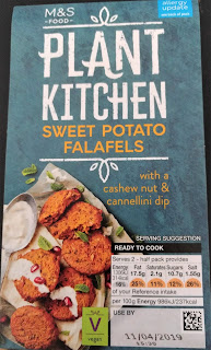 M&S sweet potato falafels plant kitchen vegan