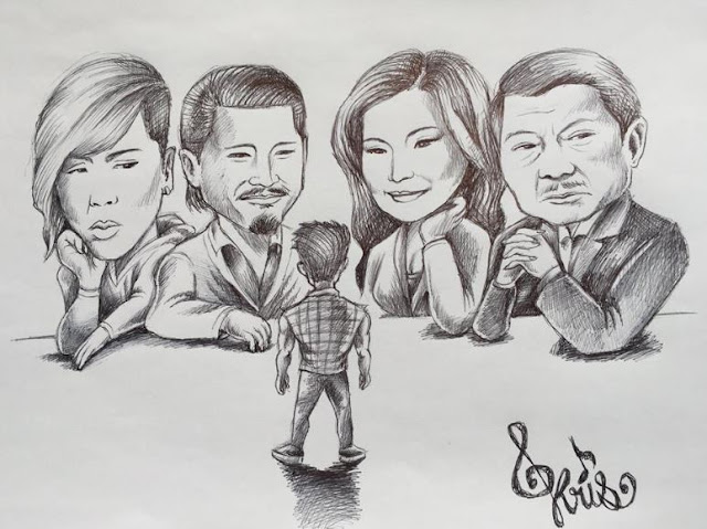 PGT Contestant Shares An Artwork Featuring The Judges Of PGT, Accompanied By His Inspiring Words