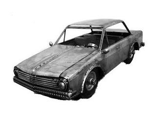 Auto hecho de acero