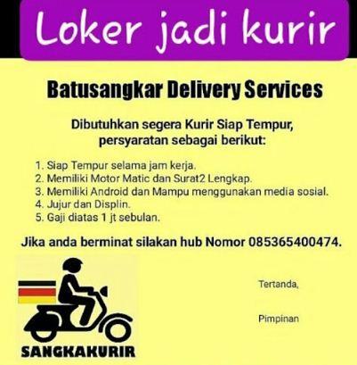 Lowongan Kerja Batusangkar Delivery Services Februari 2018 Blog Pak Pandani