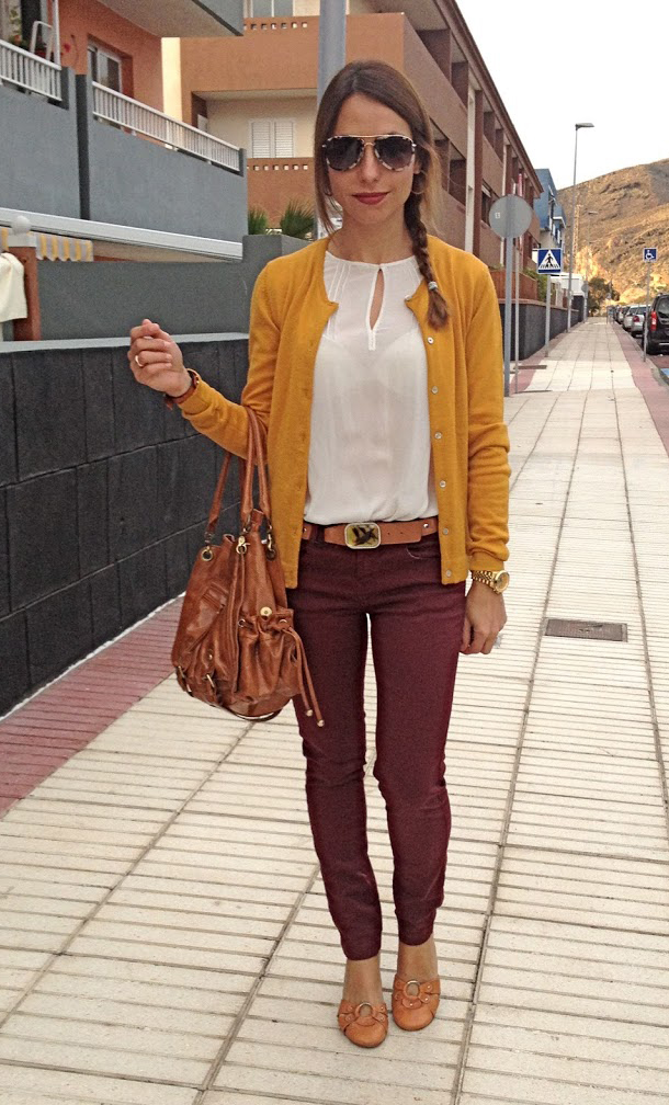 stunning outfit rojo y marron o
