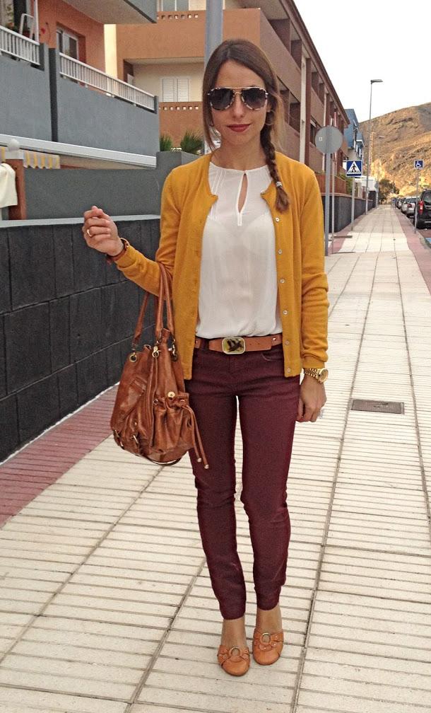 Combinar Y Una Mostaza Que Falda Con Zapatos