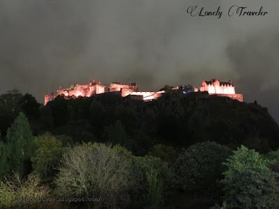 Edinburgh Castle during night
