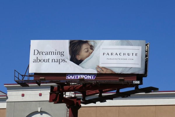 Dreaming about naps Parachute Home billboard