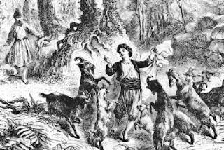 Piemuo Kaldis ir jo šokančios ožkos