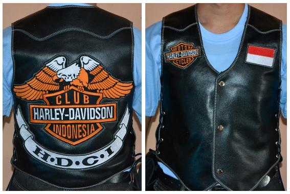 Gambar Rompi Kulit Klub Motor Harley Davidson