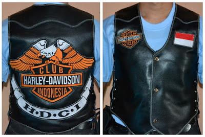 Gambar Rompi Kulit Harley Davidson