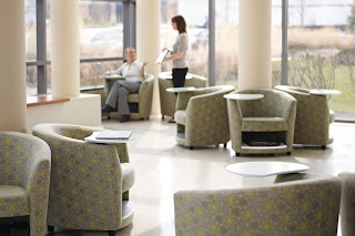 Reception Chairs with Storage Compartments