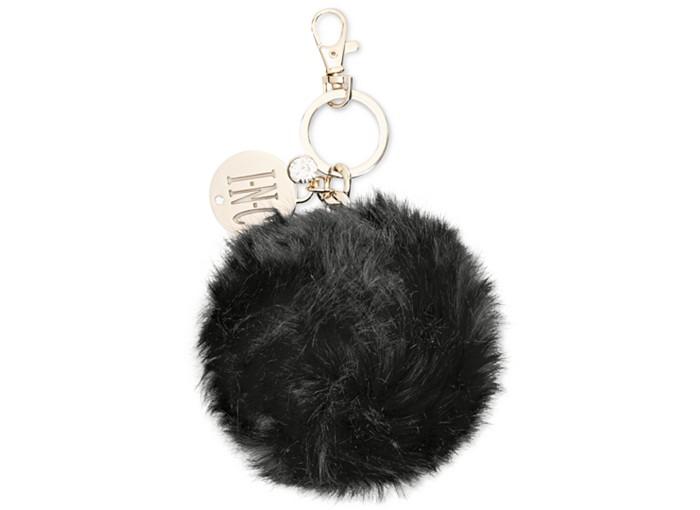 1bfe30e825d23 BOOMDAISY Pom Pom Keychain- Pom Pom Bag Charm- Pom Pom Bag Pendant - Rabbit  Fur-Black Rabbit-Gold Accessories $18.28 click here