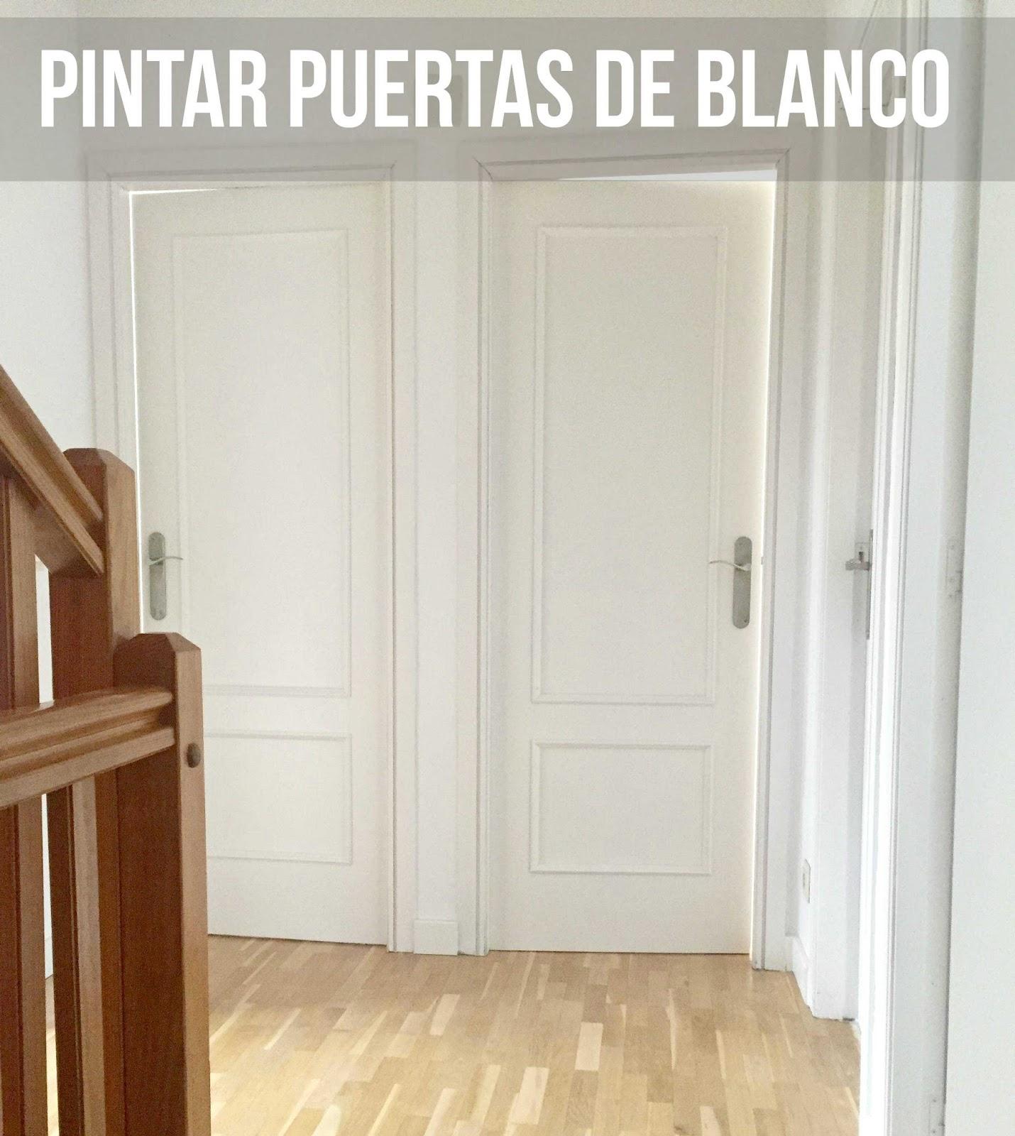 Pintar puertas antiguas de blanco taller nicoleta - Pintar puertas de blanco en casa ...