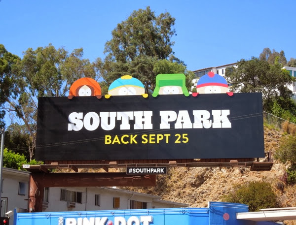 South Park season 17 Comedy Central billboard