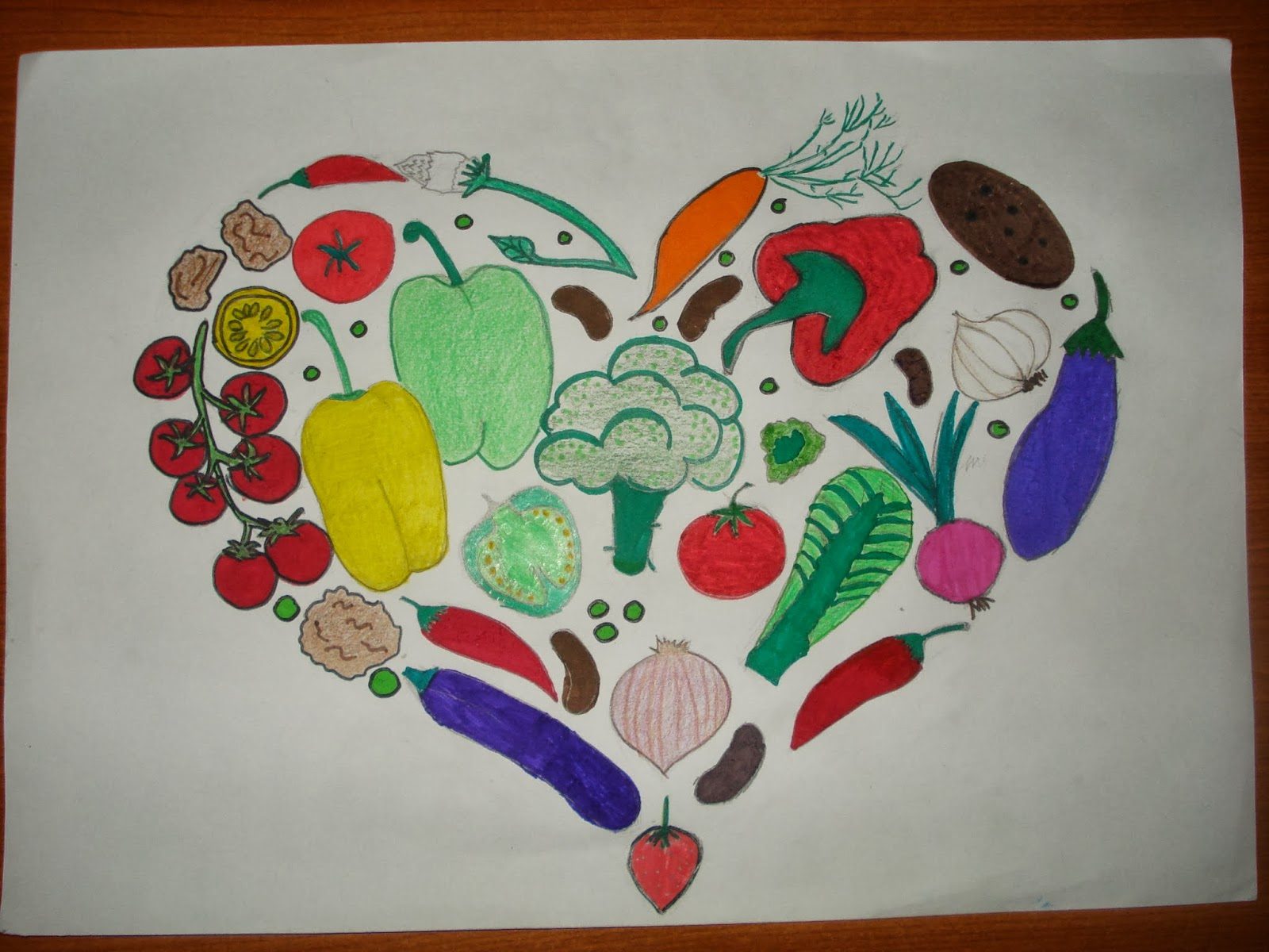 Comenius My Life My Choice 2013 2015 Hungary Drawings About Healthy Nutrition