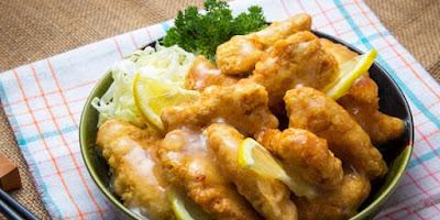 Resep Ayam Goreng Tepung Saus Lemon Segar dan Lezat