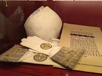 Mitre and Gloves of Bishop Karol Józef Wojtyła