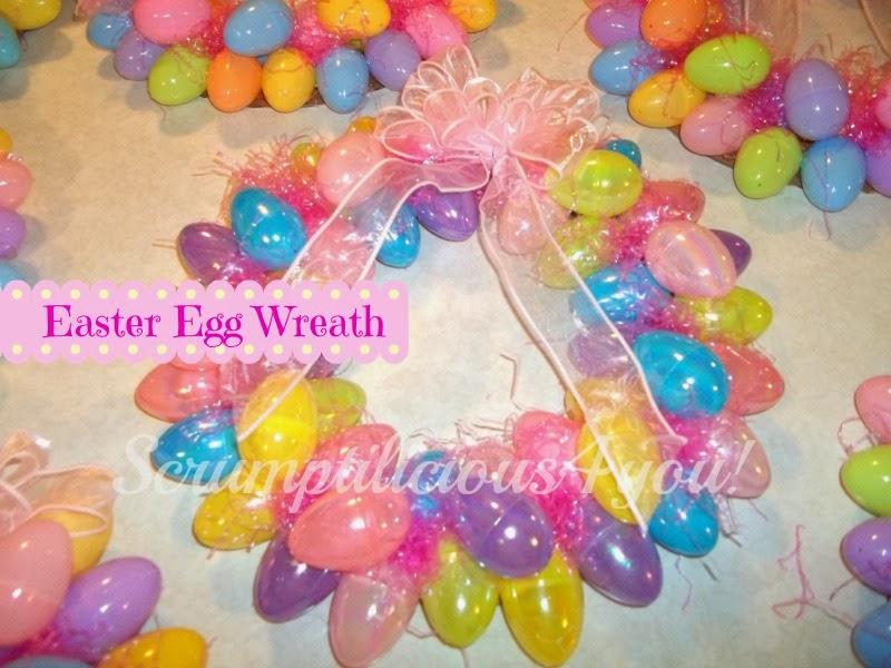Scrumptilicious 4 You: Easter Egg Wreath DIY