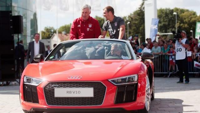 New Audi Cars for Bayern Munich, Ancelotti getting R8 Sports Car