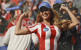 Paraguay beautiful fans