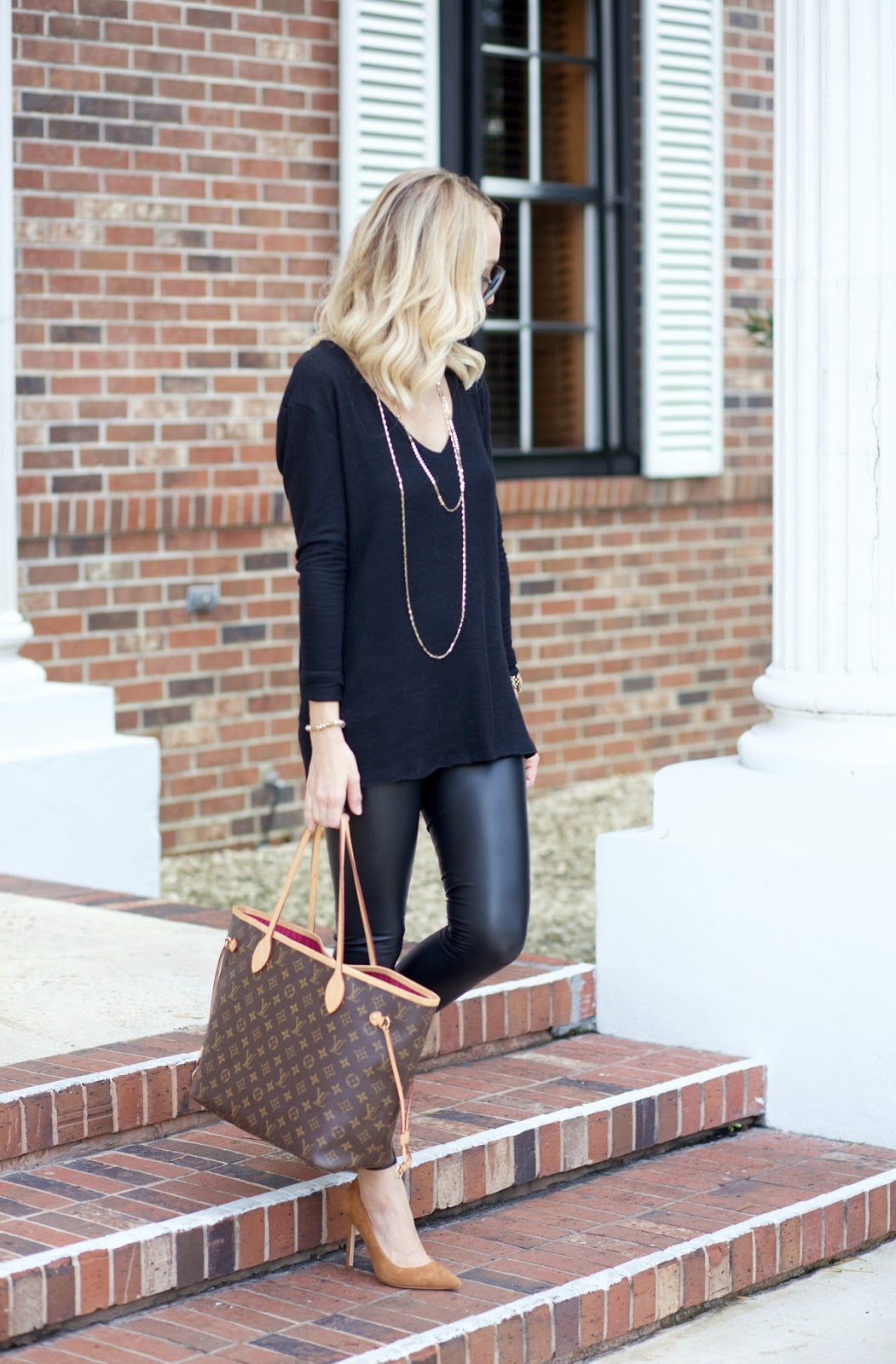 83e0b30b979ef6 Sweater: BP also love this and this, Leggings: BP (obsessed $29) also love  these, Shoes: Ivanka Trump similar here and love these, Sunglasses: Porsche  ...