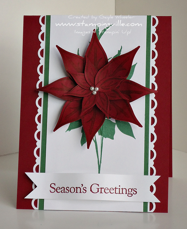 Stampingville Christmas Crafts Poinsettia Holiday Card