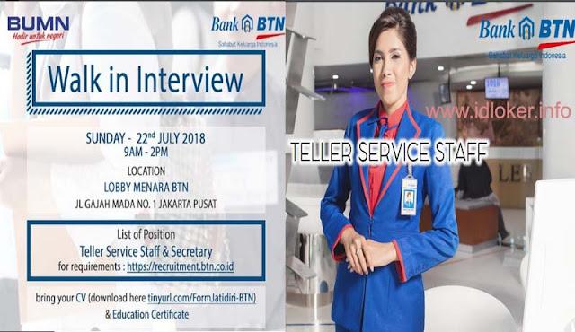 Lowongan Kerja SMA di Bank Tabungan Negara (BTN) – Teller Service Staff
