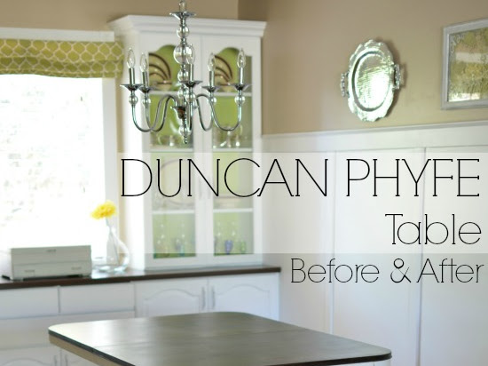 Duncan Phyfe Dining Table Makeover