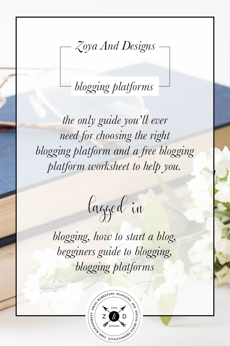the only guide you'll need for choosing the right blogging platform
