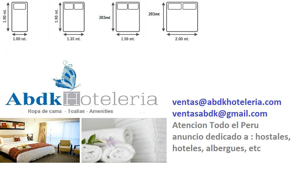 Abdk hoteleria peru medidas de sabanas medidas de for Medidas de sabanas para cama doble