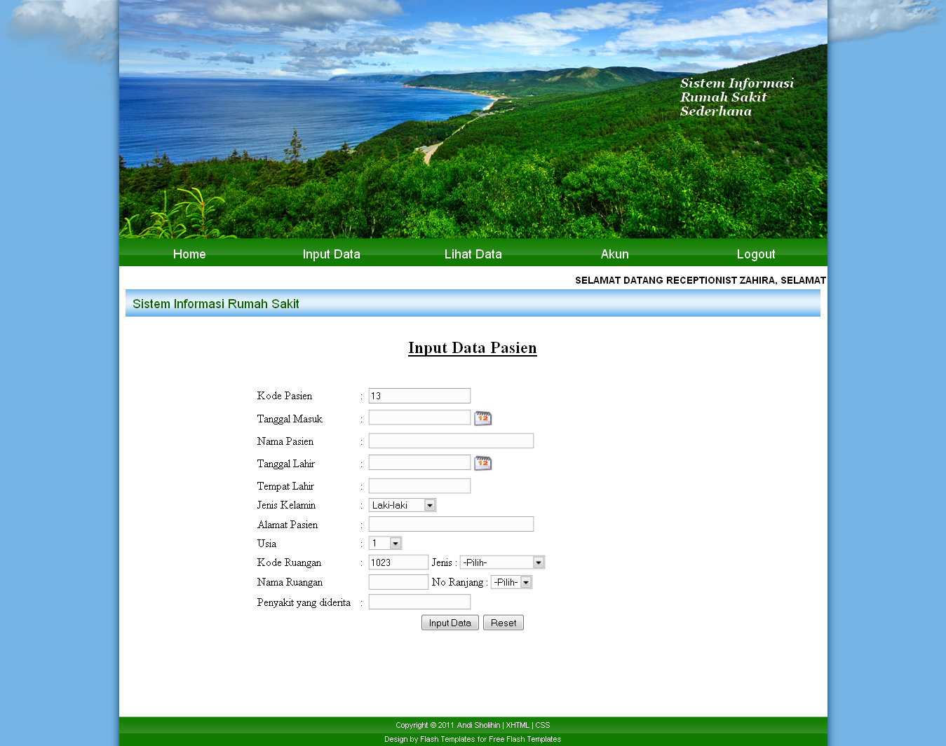 web1 Template Admin Php Sederhana on xhtml templates, doxygen templates, style sheet templates, sql templates, aed templates,