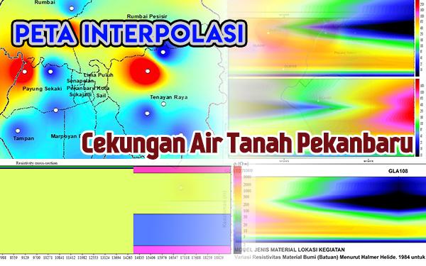 Peta Interpolasi Cekungan Air Tanah Pekanbaru - Riau