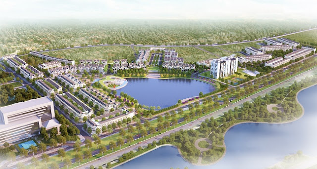 Phối cảnh Bách Việt Lake Garden Bắc Giang