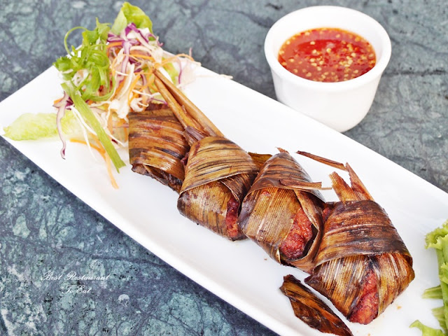 Aroi Dee Thai Restaurant Putrajaya Palm Garden Hotel IOI Resort Thai Pandan Leaf Chicken