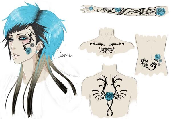 Jamie's Tattoos by Tetraethyl