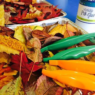 Autumn leaves motor skills and understanding kids craft activity