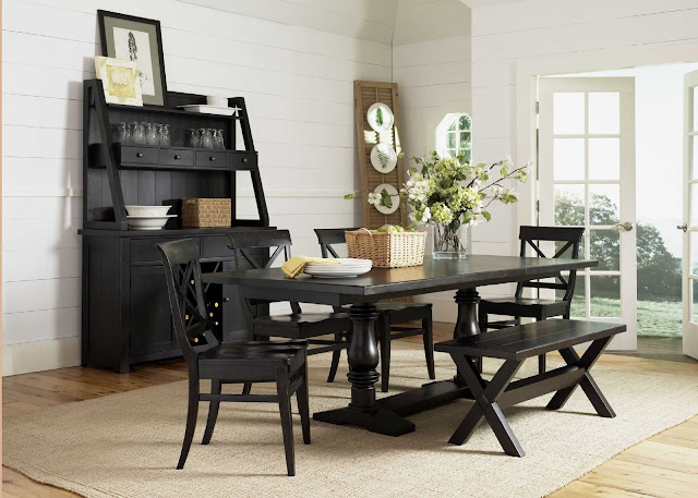 amazing black dining room table set with single square table and five comfortable seats completed with brown carpet