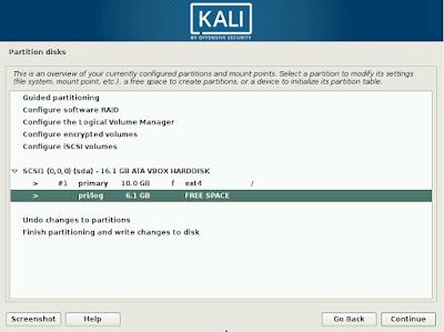 cara install kali linux