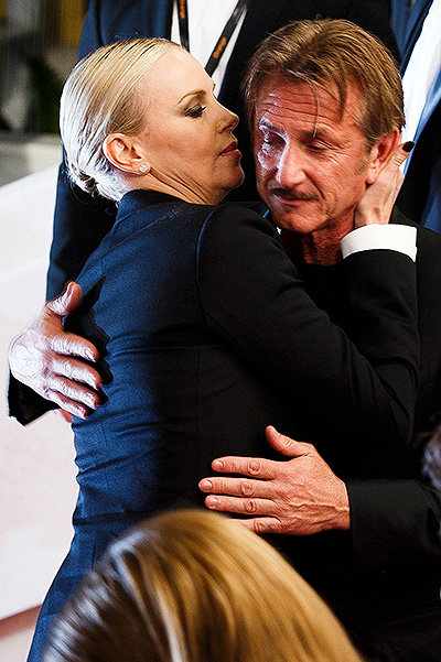 Charlize Theron and Sean Penn at the premiere of the drama