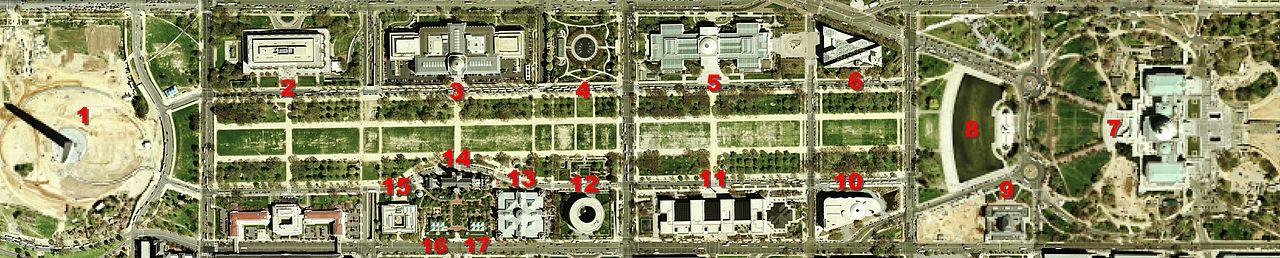 Pontos de Interesse na National Mall