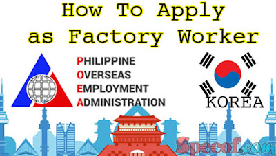 Factory Worker Hiring in South Korea For Filipino