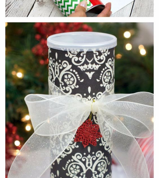 DIY Christmas Cookie Cans