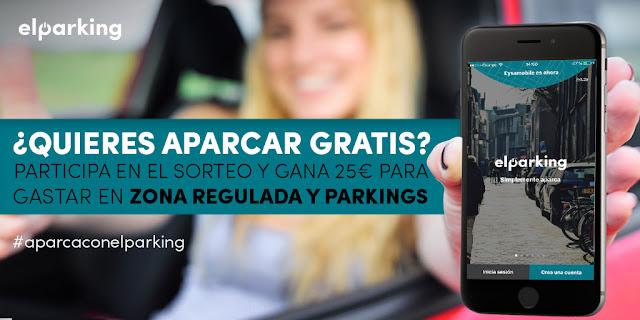 SORTEO para aparcar gratis en parkings y zonas reguladas con la APP ElParking
