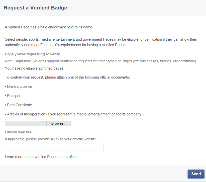 How to Verify a Government Facebook Page ~ Municipal Minute