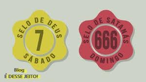 Imagem do Selo de DEUS representado aqui pelo Número 7, e o do papado 666